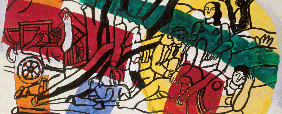 A zoom in on the painting by  Fernand Léger